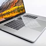 #3: Oaky Keyboard Skin Cover for Newest MacBook Pro 13 inch / 15 inch with TouchBar Release 2016 and 2017 Model A1706/A1707 Ultra-Thin Clear Keyboard Protector TPU Clear Keyboard Cover Waterproof Dust-proof Clear TPU Silicone Skin Keyboard Guard for Apple MacBook Pro 13