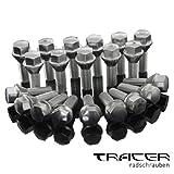 20 tornillos y pernos de ruedas M12, 1,25 x 28mm, unión cónica, 60° FI