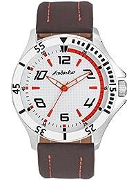 Armbandsur Analog white & orange dial Watch-ABS0020MBW