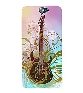 Artistic Vintage Guitar 3D Hard Polycarbonate Designer Back Case Cover for HTC One A9