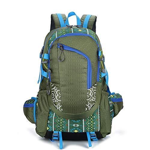 EACSE Zaino da Trekking, 40L Multifunzionale Impermeabile Casual Zaino da Campeggio Zainetto da Trekking Outdoor da Campeggio Multifunzione Alta capacità per Outdoor Sport Arrampicata,Green