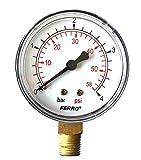Industrial 63 mm 4 bares de presión hidráulica manómetro vertical 0,64 cm