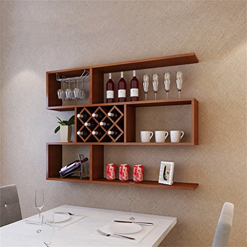 Global- Teakholz-Farbwein-Schrank-Wand-Hängender Dekorativer Rahmen-Weinregal-Wandregal...