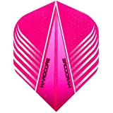 Hardcore Pink And White V Design Extra Thick Standard Dart Flights - 4 Sets Per Pack (12 Dart Flights In Total) & Red Dragon Checkout Card