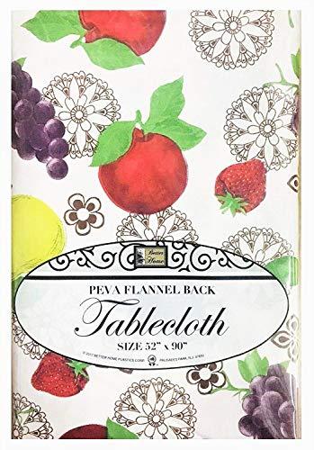 Besser Home Fruits Tischdecke Design PEVA Flanell Rückseite Küche Decorator 52