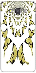 Snoogg Kaleidoscopic Butterflies Solid Snap On - Back Cover All Around Protec...