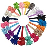 XIMA 3.5inch Bows With Baby Headbands For Children Hair Accessories Pack Of 20