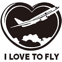 YYH Vetro adesivo Living Room Wall Stickers Creative rimuovere DIY foto parete amo volare adesivi aereo confezione da 5