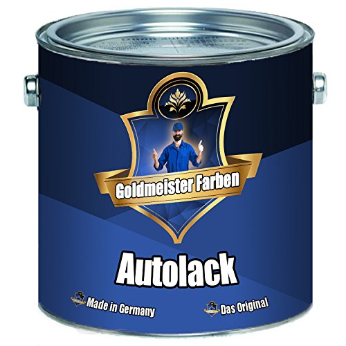 Goldmeister Farben 2 K Autolack - Grundierung und Decklack in Einem - Extrem Wiederstandsfähiger Landmaschinenlack im Set (Schwarz RAL 9005, 1 kg)