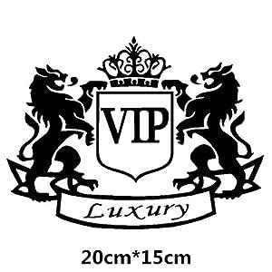 HANO Car VIP Kronen Kreative Abziehbilder für Auto Tuning Styling wasserdichte 16cm * 12cm & amp; 20cm * 15cm D11: 20x15 Schwarz
