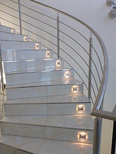 1 x ip44 design led treppenbeleuchtung wandstrahler 230v 3000k ...