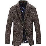 ClairSue Herren Sakko Blazer Wool Mantel Business Anzug Kurzmantel Freizeit Anzugjacke Klassischer Mens Casual Slim Fit Tweed
