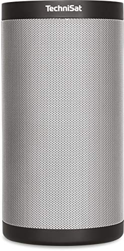 TechniSat TECHNISOUND MR2 Multiroom Lautsprecher (mit Audiostreaming, Internetradio, 2 x 10 Watt Wireless Speaker, Spotify Connect, UPnP Audio-Streaming) schwarz/silber