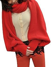 Y-BOA 1PC Unisexe Multifonction écharpe Chle Gants Pulls en coton crochet  épais souple Long 57a599fd00f