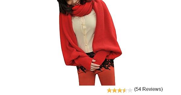 29500b122c5d Y-BOA 1PC Unisexe Multifonction écharpe Châle Gants Pulls en coton crochet  épais souple Long d automne et hiver 4 couleurs  Amazon.fr  Vêtements et ...