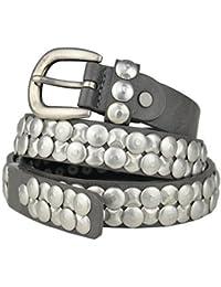 Bags4Less schmaler Vintage Nietengürtel / Gürtel mit Nieten Model: 139-135