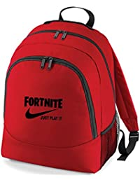 NEW Embroidered Fortnite Just play it parody gaming rucksack backpack PS4 XBOX