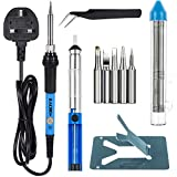 Zacro® 60W 230V Welding Soldering Iron Adjustable Temperature with 5pcs Different Tips for Various Repairing Usage