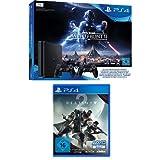 PlayStation 4 - Konsole (1TB, schwarz, slim) inkl. StarWars Battlefront II + 2 DualShock Controller  + Destiny 2