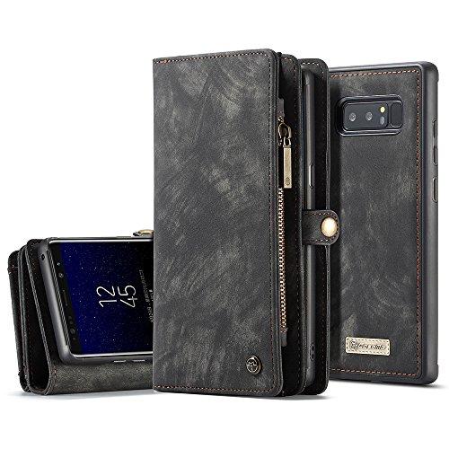 CaseMe-Samsung-Galaxy-Note-8-Leder-Case-Hlle-mit-Kartenfcher-Geldscheinfach-mit-Reiverschluss-Magnet-Handy-Schutzhlle-4-Farben