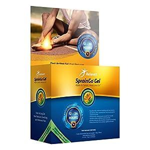 RelieveIT Spraingo Gel reduziert Schwellungen mit Schmerzen von Verstauchungen innerhalb von 12-48 Stunden