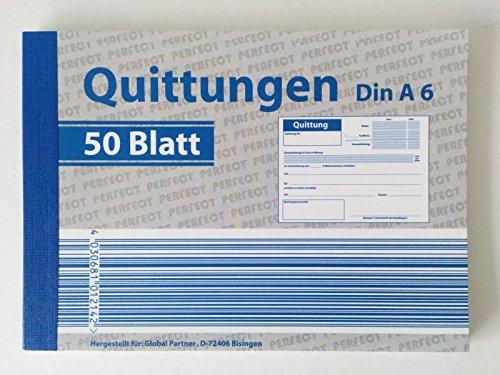 Quittungsblöcke Din A6 50 Blatt