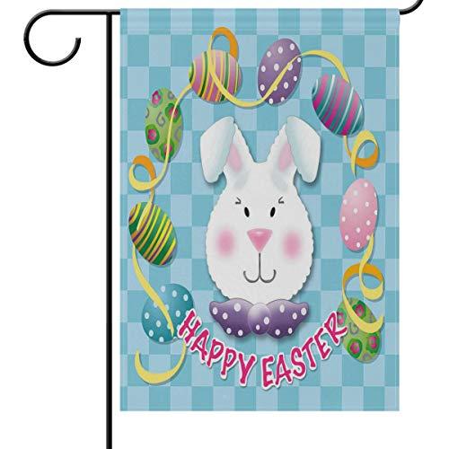 en Hofflagge Banner Haus Dekoration 30,5 x 45,7 cm bunte Eier klein Mini dekorative doppelseitige Willkommen Flaggen für Urlaub Hochzeit Party Outdoor, Textil, multi, 28x40(in) ()
