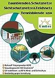 Zaunblende Sichtschutz Windschutz Sonnenschutz für Garten Balkon Sportplatz Gelände und Gewächshaus mit Klammer 2.4x4.5m