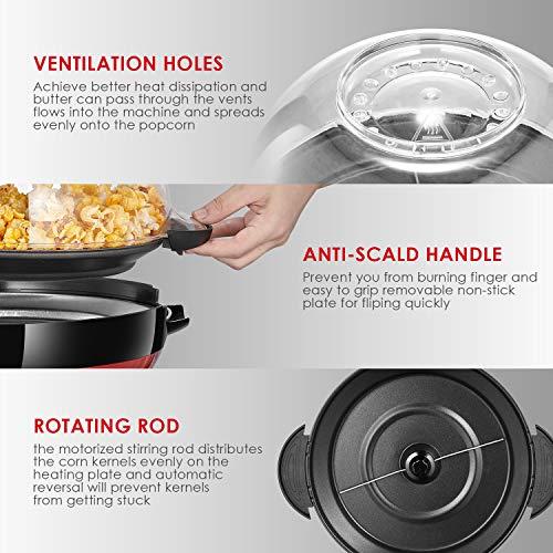 Aicook – Popcornmaschine – mit Heizplatte - 3
