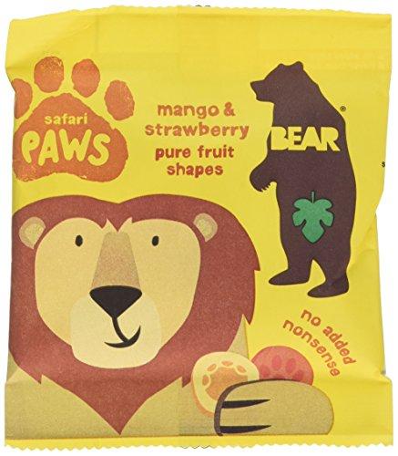 Bear Fruit Paws Safari Mango & Strawberry 18 x 20g