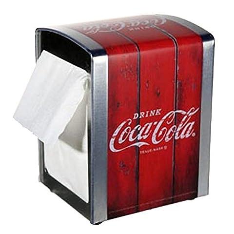 Distributeur de serviettes en métal Coca Cola Rouge Bois