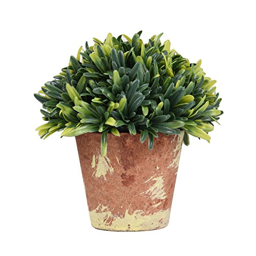 51D4SjSfk4L - NO.1 HOME DESIGN# LianLe Mini Artificial Plant Country Style Brown Planter Potted Home Table Office Decoration