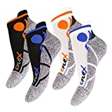 4 Paar Original CFLEX Lauf-Sneakersocken All Colours-43-46