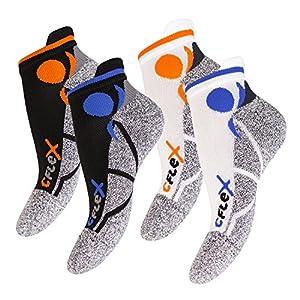 CFLEX Damen und Herren Running Funktions-Sneakersocken (4 Paar) Laufsocken