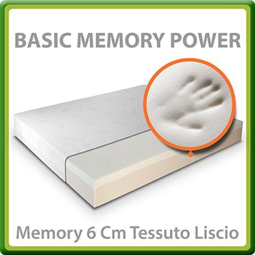 Basic Memory Power con 6 cm memory foam Materasso Piazza e Mezza 120x190 cm
