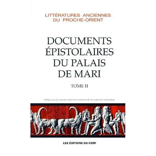 Documents épistolaires du palais de Mari, tome 2