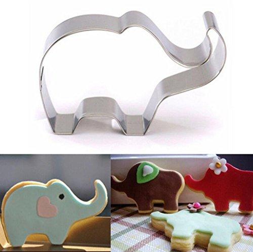 Edelstahl Keks Ausstecher Kuchen Plätzchen Ausstecherform, Elefant
