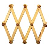 MMBOX erweiterbar Holz 10Peg Mehrzweck Vertikale Knöpfen Wandhalterung Coat Hat Reinigungstuch Storage Rack
