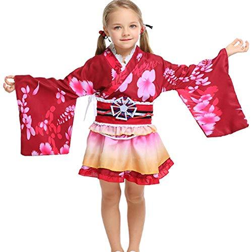Yukata Kostüm - DUQA Yukata Cosplay Short und Kost¨¹m Kinder Halloween Kleidung