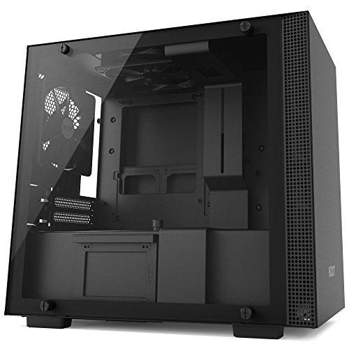 NZXT CA-H200B-B1 H200 ITX PC-Gehäuse, Schwarz/Schwarz - Mini-itx Computer-system
