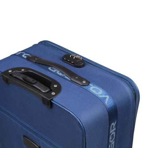 5 TLG. Trolleyset Kofferset Reisekoffer Handgepäck XXL, XL, L, M, S (Blau) - 2