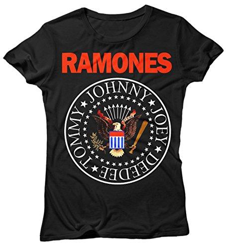 LaMAGLIERIA Camiseta Mujer Ramones - Classic 2 Colors Logo...