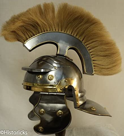 Roman Centurion Helmet (thick natural pen) re-enactment / larp / role-play