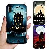 Huhuswwbin Schutzhülle für iPhone X 7/8 Plus, Halloween-Kürbisschloss