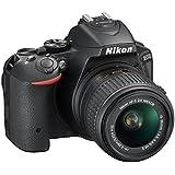 """Nikon D5500 - appareil photo reflex numérique 24,2 MP (écran de 3,2 """"de stabilisateur optique, Full HD), couleur noire - caméra Kit carrosserie avec Nikkor 18-55 mm f / 3,5-5,6 ED VR II (importé)"""