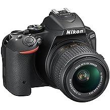 """Nikon D5500 - Cámara réflex digital de 24.2 Mp (pantalla 3.2"""", estabilizador óptico, vídeo Full HD), color negro - Kit cuerpo cámara con objetivo Nikkor 18-55mm f/3.5-5.6 ED VR II (importado)"""