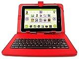 DURAGADGET Support étui rouge + clavier intégré AZERTY (français) pour tablette...