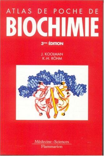 Atlas de poche de biochimie par Collectif