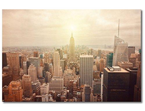 """WandbilderXXL® Gedrucktes Leinwandbild """"New York Retro"""" 120x80cm - in 6 verschiedenen Größen. Fertig gespannt auf Holzkeilrahmen. Günstige Leinwanddrucke für Kinderzimmer Schlafzimmer."""