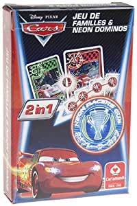 """Jeu de 32 cartes : 8 faamilles/domino """"Cars 2 en 1"""""""